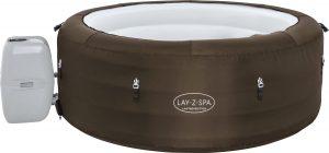 Bobby's Lay-Z-Spa Limited Edition - Jacuzzi - Opblaasbaar - Zwembad - Hottub - Zwembadbescherming - Massagefunctie - Bruin - 196 x 196 cm