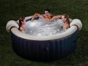 Intex PureSpa opblaasbare Navy Bubbel Spa - Opblaasbare Jacuzzi - Met verlichting