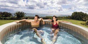 Intex Spa Bubble Jacuzzi- 236x71 cm - tot 8 personen - Sahara bruin - Direct leverbaar!