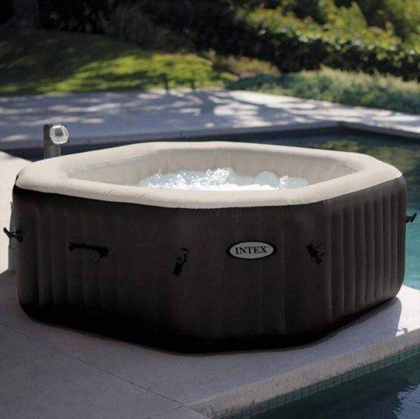 Intex PureSpa Jet & Bubble DeLuxe Jacuzzi 4-Persoons Set met Zoutwatersysteem - bubbelbad - buiten luxe jacuzzi - whirlpool - hottub