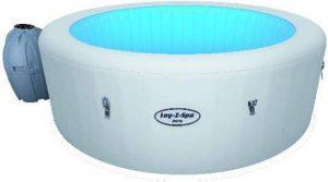 Bestway - Lay-Z-Spa Paris - Jacuzzi - Zwembad - Pomp - 7 LED Kleuren - Relax - Massage - Hoes - 4-Personen - Blauw - 196x66cm - 806L